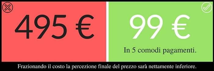frazionare costo prezzo