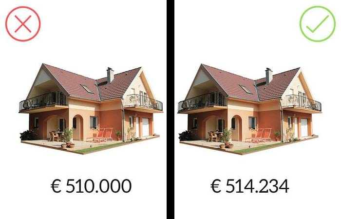 numero preciso prezzi elevati