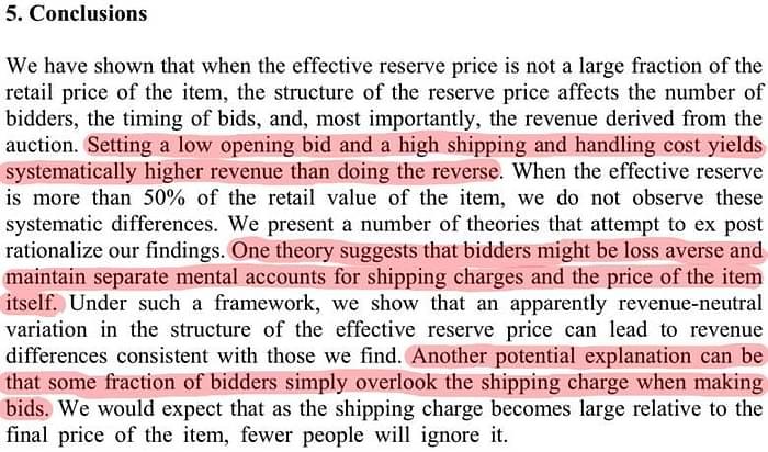 separazione costi di consegna